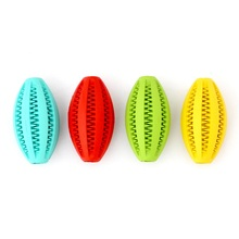New Pets Dog Cat Toy Cleaning Training Rubber Rugby Chew Ball Toys Have Fun Diet Control Massaging Ball