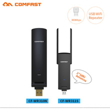 COMFAST 300Mbps USB Wireless WiFi Repeater 2.4Ghz usb wifi router Signal booster with dual Antenna WiFi signal Range Extender