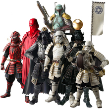 Star Wars The Force Awakens Samurai Taisho Darth Vader Death Star Armor Ashigaru Stormtrooper Boba Fett Action Figure Toys 17cm