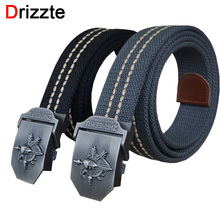 Drizzte 110cm 130cm 150cm Plus Size Long Men's Tactical Military Belt Woven Canvas Web Duty Belt Strap For Men Man XXL XXXL