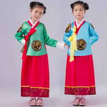 New  High Quality girls Kids  Embroidery Korean Traditional Dress National Cosplay Costume Korean Hanbok Free shipping