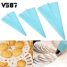 39cm Large Silicone Reusable Icing Piping Writing Pen Cream Pastry Bag Cake Decorating Tool Home Bakery Baking Tools Bakeware(China)