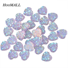 100PCs Nail Art Rhinestone Clear Crystal AB Color Heart Rhinestones 9.5mm Flatback Rhinestones Embellishment DIY Decoration(China)