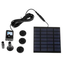 Promotion! DC Solar Power Fountain Pool Water Panel Kit Garden Watering Pumb(China)