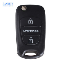 Dandkey 3 Buttons Flip Folding Remote Key Shell Blank Case Replacement For Kia Sportage(China)