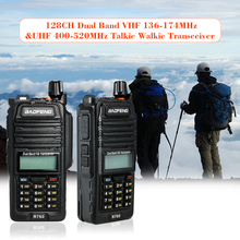 128CH Dual Band VHF 136-174MHz&UHF 400-520MHz Talkie Walkie Transceiver Two Way Radio Portable Handheld Waterproof(China)