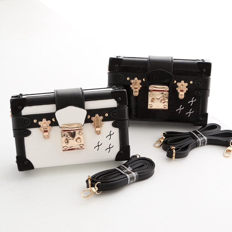 New Brand Women Handbag Luxury Ladies Clutch Evening Bags Crystal Trunk Shoulder Bag Vintage Crossbody Bag<br><br>Aliexpress
