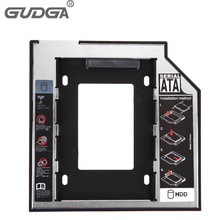 2017 SATA to SATA 2nd HDD Caddy 12.7mm for 12.7mm 12.5mm SSD Case Hard Disk Drive Enclosure Bay for Notebook ODD Optibay CD-Rom