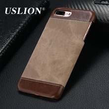Luxury Retro Style Cloth Skin Leather + PC Phone Cases for iphone 5 5s SE 6 6s 7 7 Plus Back Cover Case Coque For iphone7 Plus