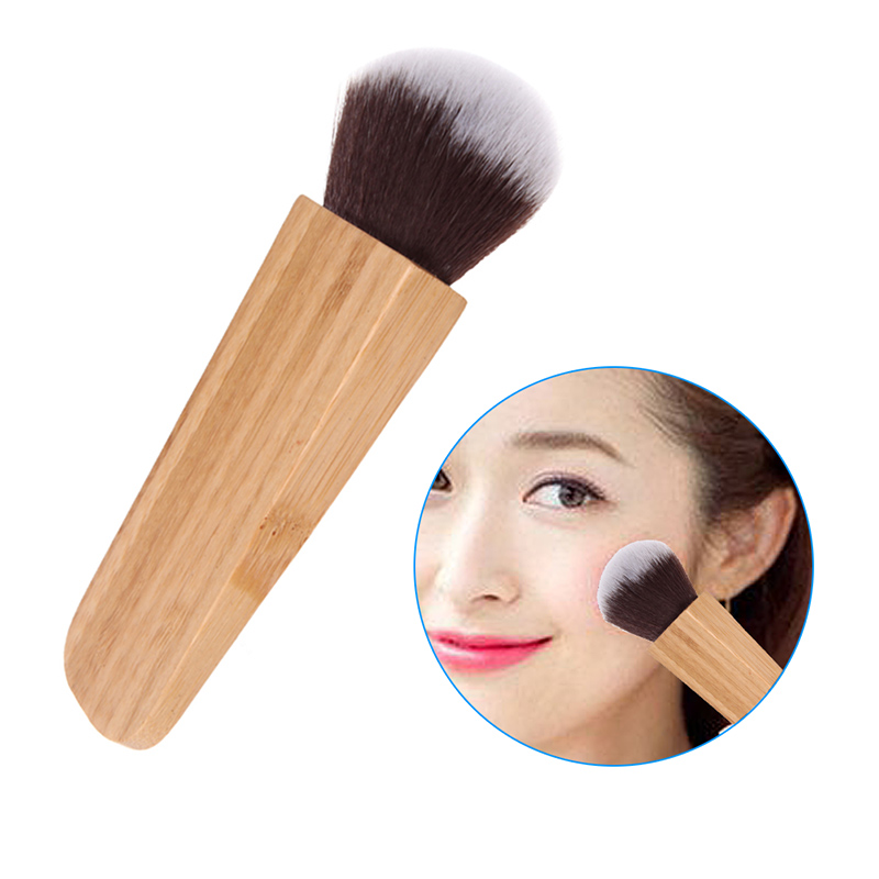 New Makeup Brush Swirl Power Contour Bamboo Handle Blush Cosmetic Foundation Synthetic Hair Beauty Tool(China (Mainland))
