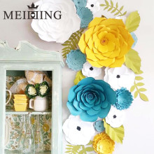 MEIDDING-2pcs diy Paper Flower Backdrop, Wedding Backdrop, 20cm Paper Flowers Kid's Birthday Party Wall Hanging Decor(China)