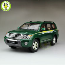 1:18 Scale Toyota Land Cruiser LC200 Diecast SUV Car Model Toys for gifts collection hobby Green