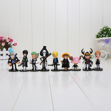 9pcs/lot ONE PIECE Action Figures Luffy Nami Chopper Brook Golden Lion PVC Figure Collection Dolls Toy for Children