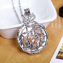 New look Flower Reading Glass Crystals Necklace 2x Magnifying Glass Pendant Women 65cm Long Chain Necklaces Mother's Day Gift(China)