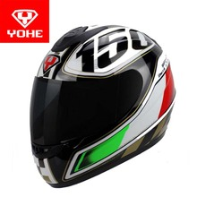 YOHE motorcross motorcycle helmet winter run full face motorbike helmets made of ABS model YH-993 have 5 kinds of colors 4 size(China)
