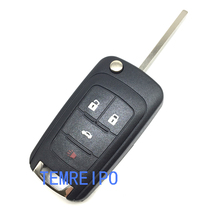 replacement flip key blank for chevrolet 4 button folding key shell cruze spart epica lova key cover fob(China)
