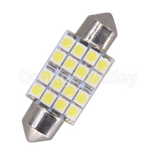 100pcs Super Bright C5W 3528 1210 16 SMD LED Car Dome Festoon Interior Lights Bulbs 31mm 36mm 39mm 41mm Auto Roof Car Light(China)