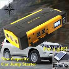 2017 Multi-Function Portable Car Jump Starter 12V Starting Device Car Charger Mobile 4USB Power Bank Compass SOS Light Free Ship
