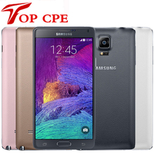 Note4 Original Unlocked Samsung Galaxy Note 4 N910A N910F N910P LTE Smartphone 5.7 inch 16MP 3GB 32GB Mobile Refurbished Phone(China)
