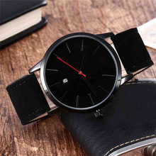 Women Leisure Time Faux Leather Analog Simple Clock Dial Wrist Watch Store sales promotion at a loss of 99 au2(China)