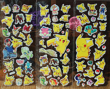 1pc cartoon anime Pokemon stickers for kids rooms Home decor Diary Notebook Label Decoration toy Pikachu 3D sticker random color(China)