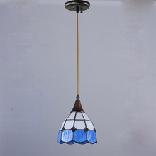 Buy Tiffany restaurant front hotel pendant lights cafe bar small aisle entrance hall creative pendant lamp ZA DF7 lo10 for $69.00 in AliExpress store