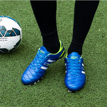 Outdoor Lawn Broken Nails Adult Football Training Anti-skid, Wear-resistant, Sports Football Shoes, 2017 New, Free shipping