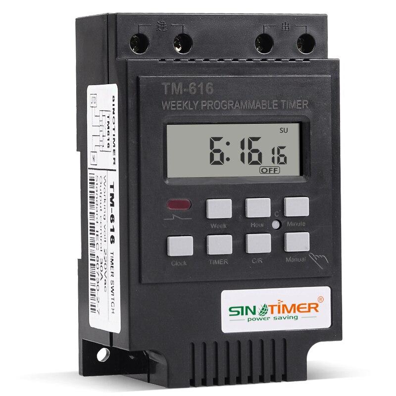 Interruptor de Temporizador para electrodom/ésticos de Sutinna Interruptor de Temporizador programable Temporizador programable semanal de riel DIN 110V English