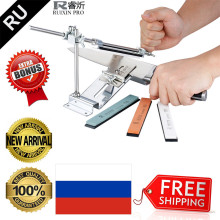 Knife Sharpener Ruixin Pro III All Iron Steel Professional Chef Knife Sharpener Kitchen Sharpening System Fix-angle 4 Whetstone(China)