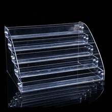 5 Tiers Cosmetic Makeup Nail Polish Varnish Display Stand Rack Holder Jewelry Acrylic Packaging Organizer Storage Box(China)