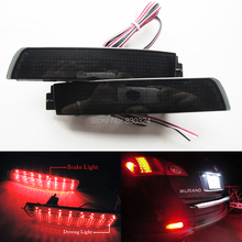 2X Black Smoked Lens Rear Bumper Reflector LED Tail Brake Light For Nissan Juke Z51 Murano Infiniti FX35 FX(China)