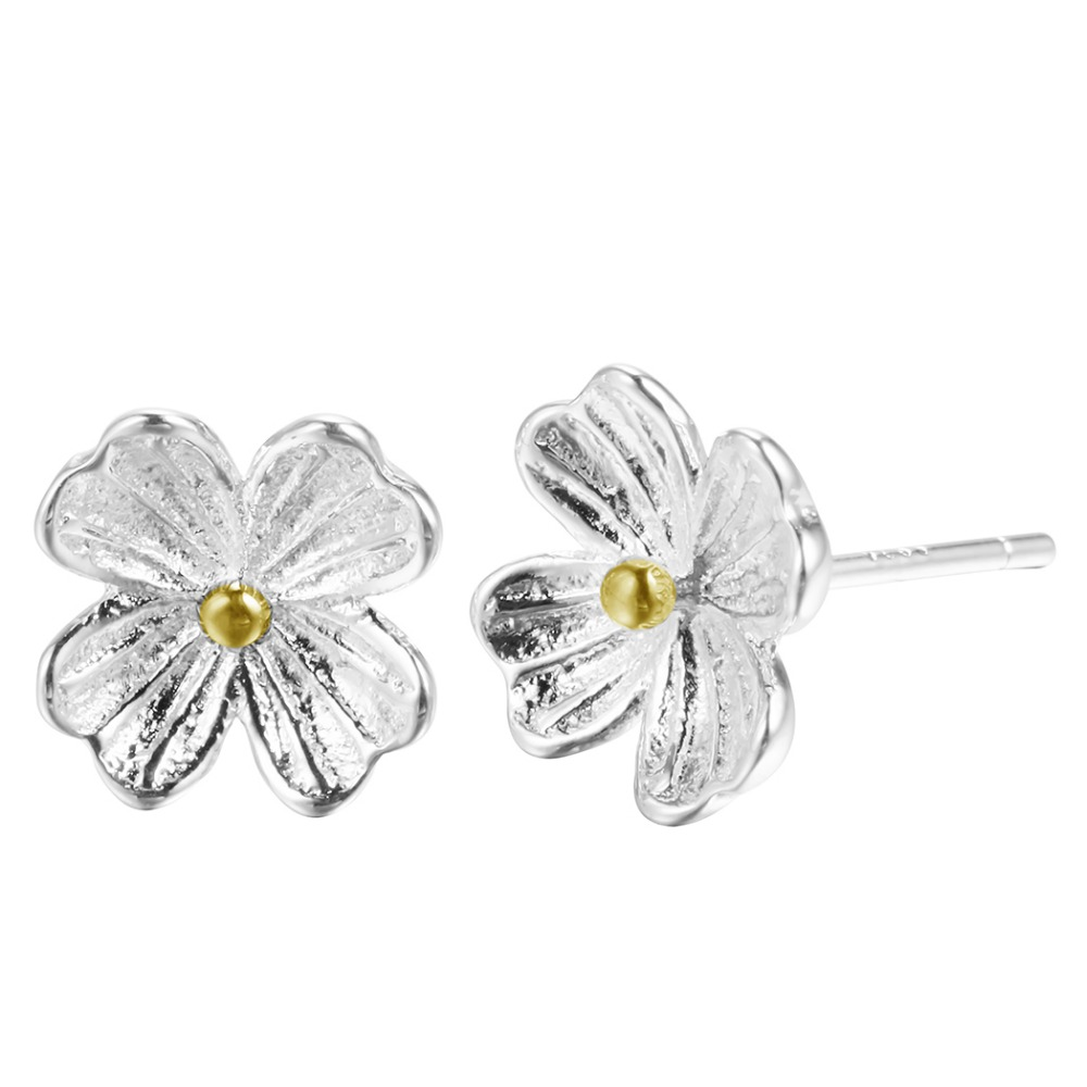 QIAMNI-925-Sterling-Silver-Untique-Cherry-Blossom-Flower-Stud-Earring-for-Women-Girl-Christmas-Handmade-Jewelry