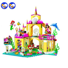 A toy A dream 383PCS Bela 10436 The Mermaid Series Undersea Palace Princess Bricks Building Block Toys Compatible Lepin(China)