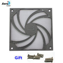 4pcs Computer Fan Dust Filter 120mm Fan Filter Cover Aerocool Logo With Screws Washable 12cm Fan Dust Cover