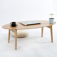 Modern Small Oval Bamboo Coffee Tea Table Folding Sofa Side Table Casual Tatami Desk Nordic Living Room Hotel Decoration