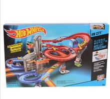 Manually Hot Wheels railway Cyclotron Stereo Track Hotwheels Collection Miniatures Car Model Classic Antique For Boys Kid Toy 3