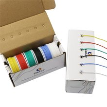 CBAZY Hook up Wire Kit (Stranded Wire Kit) 22 Gauge Flexible Silicone rubber Electric wire 6 colors 19.6 feet Each 22 AWG