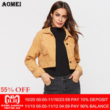 c146185ba4d Women Autumn Jackets Yellow Coats Girls Loose Casual Long Sleeve Korean Fashion  Fall Outwear with Buttons Short Outcoat Cardigan