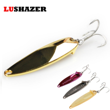 LUSHAZER fishing bait 15g 20g 25g carp fishing wobbler spoon lure metal baits isca artificial hard lures China spinnerbait(China)