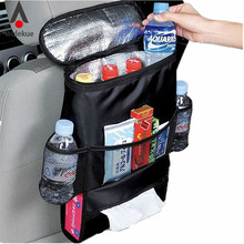 Auto Car Back Seat Boot Organizer Trash Net Holder Multi-Pocket Travel Storage Bag Hanger for Auto Capacity Storage Pouch(China)