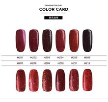Red Diamond nail gel system soak off 15ml uv nail gel soak off 12colors with the best quality for makeup