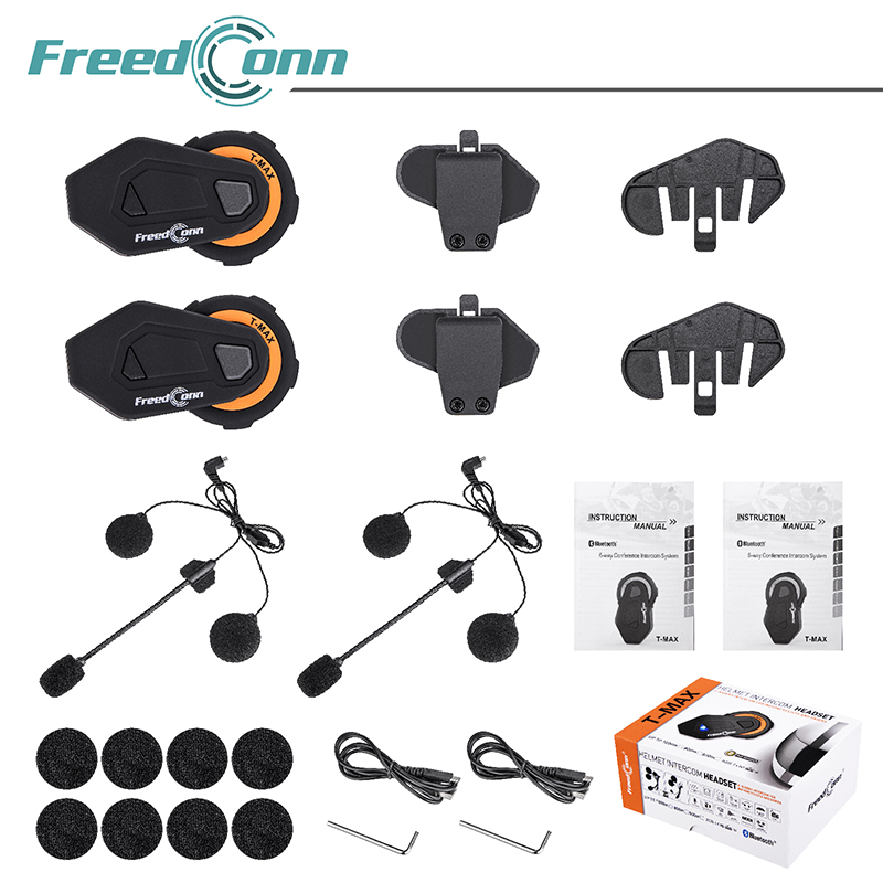 FreedConn-bluetooth intercom 6 riders headset intercomunicado