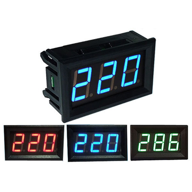 1 PC Blue YB27A 0.56 LED AC70-500V Digital Voltmeter Voltage Display Panel Two Wires on Sale(China (Mainland))