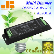 Free Shipping DMX Decoder & 0-10V DIMMER LED DRIVER 1 Channel DC12-24V Constant Voltage Max output 360W Model:AL7001A(China)