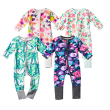 Newborn Baby Girls Clothing Summer Long Sleeve Baby Romper Jumpsuit Infant Kids Girl Clothes Meninas Suits Rose Flower Printing