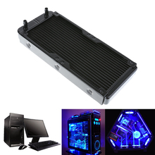 1pcs 240mm 18 Tubes Aluminum Computer Water Cooling Radiator Heat Exchanging Sink Part Computer Components Black(China)