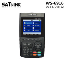 Satlink WS-6916 Satellite Signal Finder WS6916 With 3.5 Inch HD LCD Support DVB-S DVB-S2 MPEG-2/MPEG4 digital Satellite Meter(China)