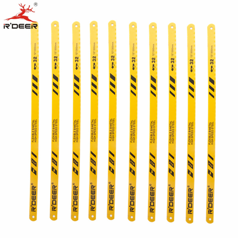 10pcs Jig Saw BladesHand Saw 300*12.6*0.6mm Hacksaw Blade Bl-Metal HSS For Cutting Stainless Steel Wood Hand Tool<br><br>Aliexpress