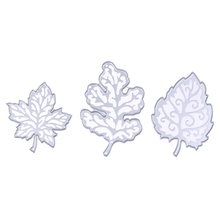 3Pcs Pretty Leaves Metal Cutting Dies Stencil Album DIY Scrapbooking Crafts Dies Paper Decorative Cards Embossing Folder Die Cut