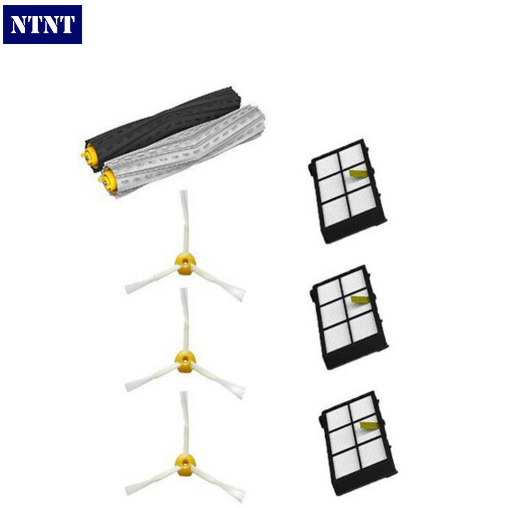 NTNT Free Post Debris Extractor Set &amp; HEPA Filter &amp; Side Brush parts Kit For iRobot Roomba 800 series 870 880 vacuum cleaner<br><br>Aliexpress